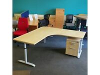 Height settable corner Desk