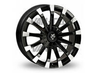 Wolfrace Renaissance 20″ Black and Polished Alloy Wheels fit VW Transporters T5 T5.1 T6