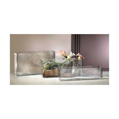 Vaso in vetro rettangolare, varie misure