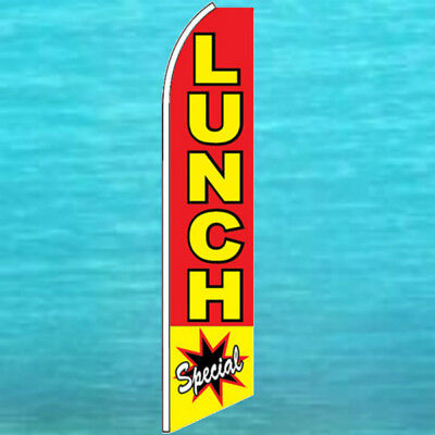 Lunch Special Flutter Flag Tall Restaurant Advertising Feather Swooper Banner