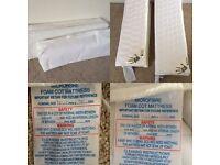 X2 Folding travel cot mattresses- £10 each