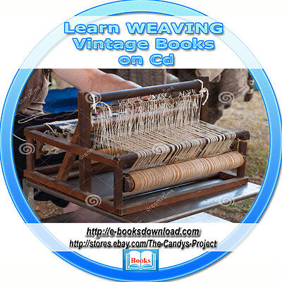 Learn How to Weaving Basket Blankets Vintage Books Cd Collection