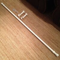 White Wooden Curtain Rod ($10)