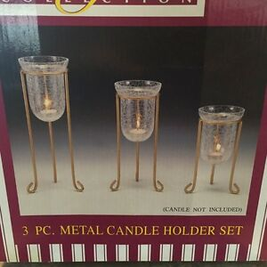 Fifteen sets of 3 candle holders