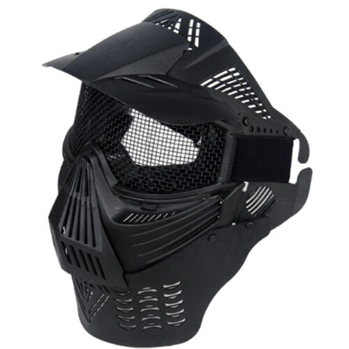EZ FIT AIRSOFT PAINTBALL FULL FACE MASK METAL MESH Vented Helmet Goggles Eye