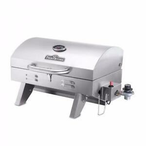 NEW! STAINLESS STEEL PORTABLE PROPANE CAMPING BBQ