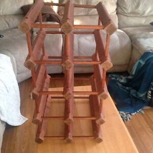 Wood wine rack