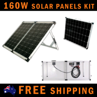 SUPER SALE! 160W Folding Solar Panels for Camping with regulator