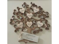 Shabby chic personalised family tree box frames