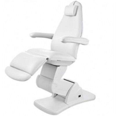 WHITE Nious 3 Motor Luxury Electric Treatment Wax Salon and Spa Chair - USA-2244