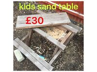 Kids bench n sand table