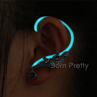 1Pc Lizard Luminous Noctilucence Ear Cuff Pretty Clip Earrings Women Jewelry