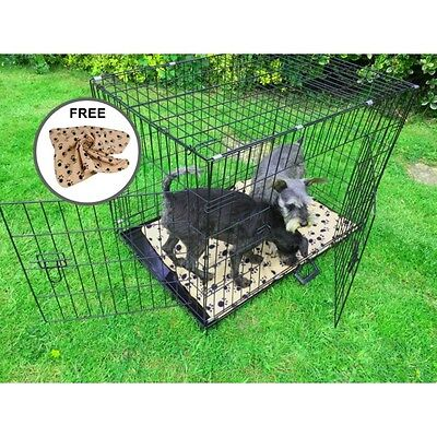 "AVC (XXL) 48"" Metal Pet Dog Cat Transport Training Cage including FREE Bed"