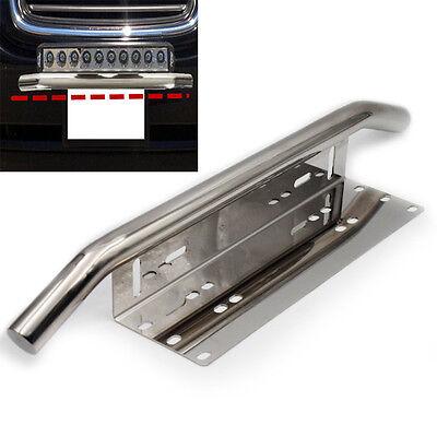 Heavy Duty Offroad Bumper License Plate Mounting Bracket LED Work Fog Light