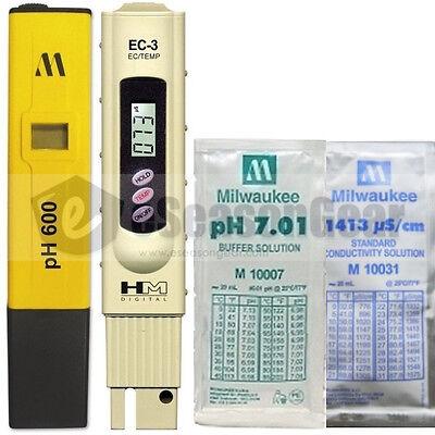 Ph600 Ec-3 Ph 7 1413 Scm Combo - Milwaukee Hm Digital Metersolution Tds