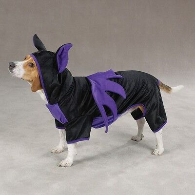 BAT DOG Halloween Costume Dog Puppy Pet Black Purple Batman Party XS and L only - Bat Dog Halloween Costume