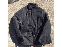 Black frank Thomas ladies motorcycle jacket