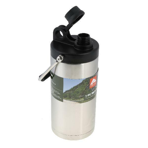 1/2 Gallon Rugged Double-Wall Vacuum-Sealed Bottle Stainless