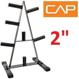 """NEW  CAP 2"""" ROUND TUBE PLATE RACK RK-2A 209073586 BARBELL WEIGHT HOLDER 500LB CAPACITY"""
