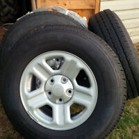 New Tires and rims for Jeep, caravan, dodge journey