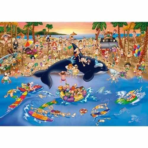 D-Toys 1000 Piece Puzzle - Cartoon Collection At The Beach