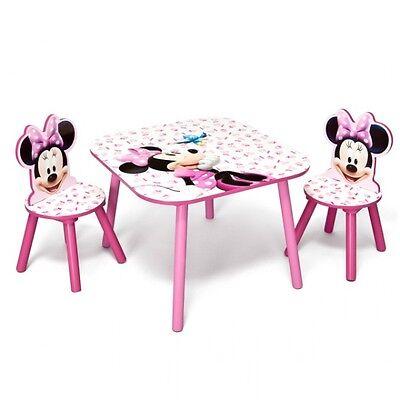 Disney Minnie Mouse Kindertisch mit Stühlen Kindersitzgruppe Kindersitzgarnitur
