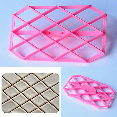 Diamond Quilting Cake Embosser Icing Cutter Fondant Decorating Sugarcraft Mold
