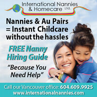 Vancouver Families : Live-in and live out Nannies available