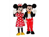 Mickey & Minnie Mouse Mascots (costume hire only)