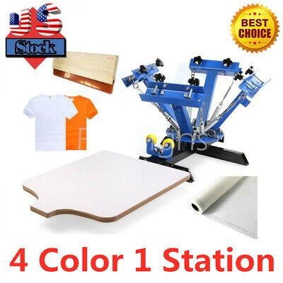 4 Color 1 Station T-shirt Silk Screen Printing Press Machine Diy