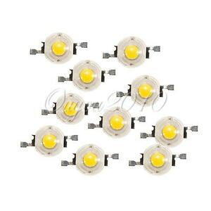 10x 1W Watt High Power Hochleistungs LED Chip Lampe Licht Leuchte Birne Warmweiß