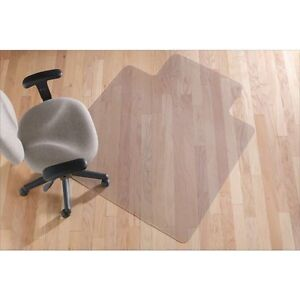 Smooth surface under chair pad