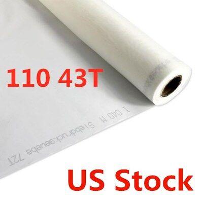 Us Stock 1 Yard - Silk Screen Printing Mesh Fabric 110 Mesh 43t