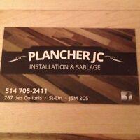 Instalation de plancher et sablage