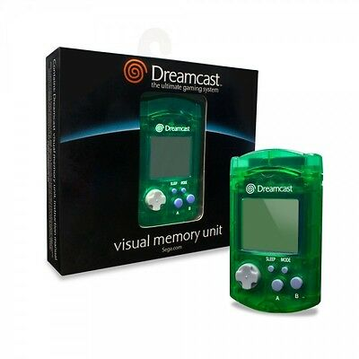 GREEN VMU Card for Sega Dreamcast - New in Box -- Official Visual Memory Unit