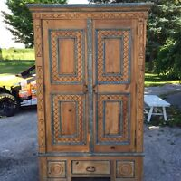 Solid Pine Armoire.