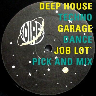 "Deep House Techno Garage D'n'B Trance Dance 12""s job lot CHEAP BE QUICK £1 each!"