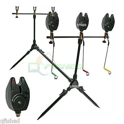 BRAND NEW Carp Fishing Multi Rod Pod With Swingers 3 Bite Alarms & 3 Rod Rests