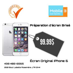 ✅ REMPLACEMENT ÉCRAN IPHONE 6 100% Original 99,99$ ✅