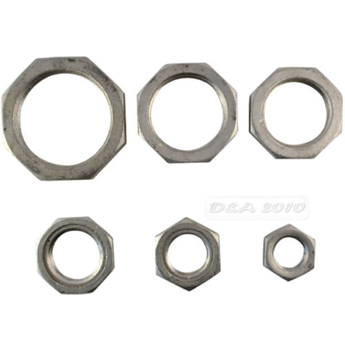 """1//2/"""" Lock Nut Stainless Steel 304 O-Ring Groove Pipe Fitting Lock Nut NPT NEW"""