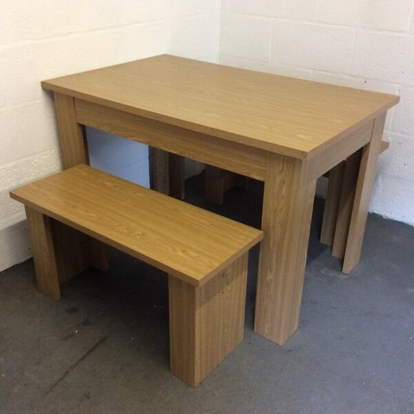 Homebase Dining Table And Benches