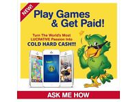 Work from home playing games on your phone