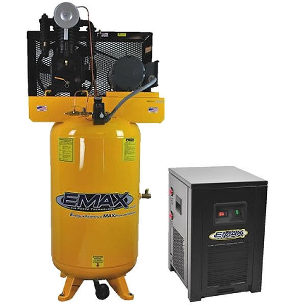 Emax Industrial Plus 5-hp 80-gallon Two-stage Air Compressor W/ Dryer (208/23...