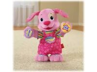 FISHER PRICE LAUGH & LEARN DANCE & PLAY PUPPY (PINK)