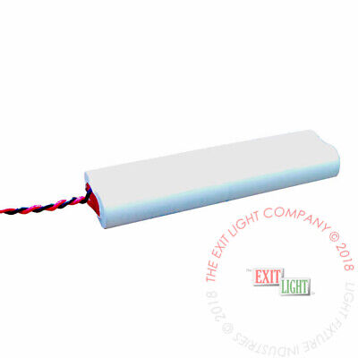 Emergency Light Exit Sign 2pk Battery 4.8v 700mah Nicad Baa48s