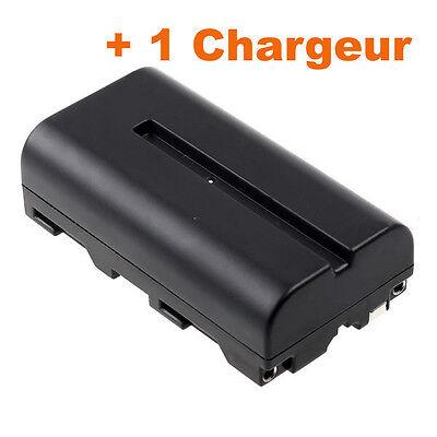 Batterie Blumax NP-F550 2400mAh +Chargeur pour Caméra Sony Aputure Yongnuo