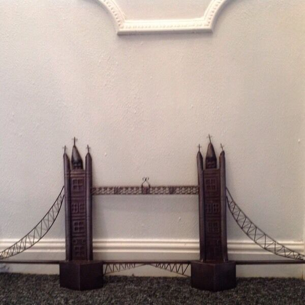 Metal London Bridge Wall Art 3 Foot Wide