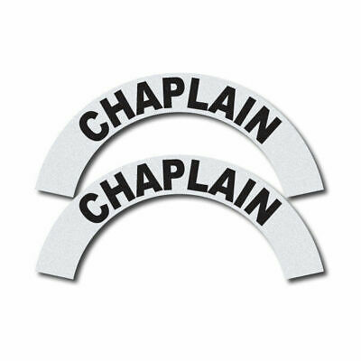 3m Reflective Firerescueems Helmet Crescents Decal Set - Chaplain