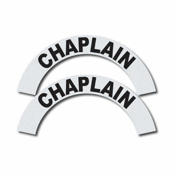 3M Reflective Fire/Rescue/EMS Helmet Crescents Decal set - Chaplain
