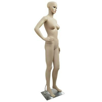 Mannequin Female Realistic Plastic Bent Foot Full Body Dress Form Display Wbase